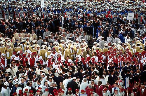15.09.2000. Olympic Stadium, Sydney, Australia. OPENING CEREMONY, The Teams line up, Stadium Australia, Sydney 2000 Olympic Games
