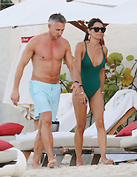 Gary Lineker and model wife Danielle Bux enjoy a beach day in Saint Barthelemy.