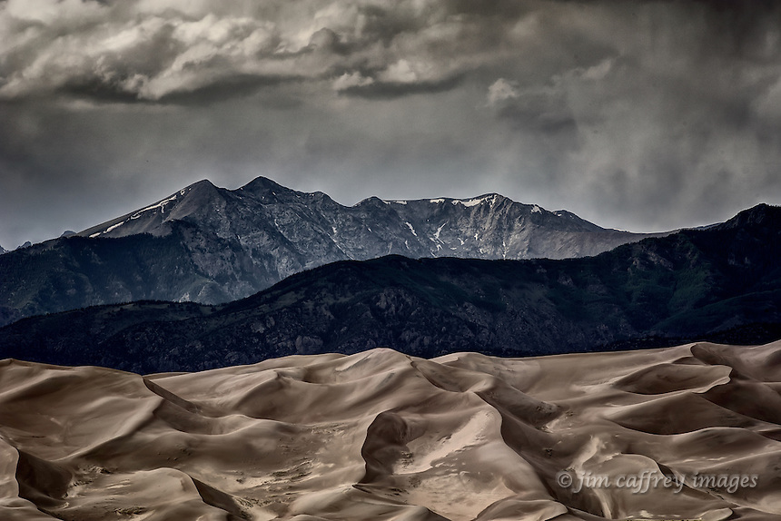 The Great Sand Dunes with the Sangre de Cristo mountains in the background