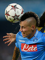 FUSSBALL   CHAMPIONS LEAGUE   SAISON 2013/2014   Vorrunde SSC Neapel - Borussia Dortmund      18.09.2013 Marek Hamsik (SSC Neapel) mit Ball