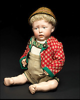 BNPS.co.uk (01202 558833)<br /> Pic: Bonhams/BNPS<br /> <br /> ***Please Use Full Byline***<br /> <br /> Kammer &amp; Reinhardt 112 'Walter' Bisque Head Character Baby. <br /> <br /> <br /> A creepy collection of almost 100 'lifelike' dolls modelled on children has emerged for sale with a whopping half a million pounds price tag. <br /> <br /> The eerie-looking toys were made in Germany in the early 20th century as dollmakers strived to produce dolls with realistic human features.<br /> <br /> The collection of 92 dolls, which includes some of the rarest ever made, has been pieced together by a European enthusiast over the past 30 years.<br /> <br /> It is expected to fetch upwards of &pound;500,000 when it goes under the hammer at London auction house Bonhams tomorrow (Weds).