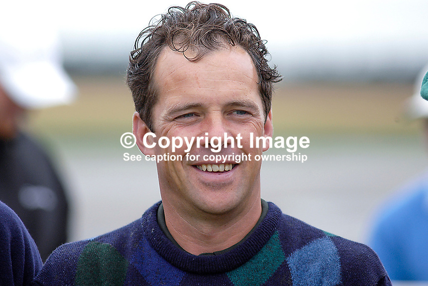 Malcolm Mackenzie, professional golfer, England. Taken at Nissan Irish Open, Portmarnock Golf Club, Ireland, in July 2003. Ref: 200307232629...Copyright Image from Victor Patterson, 54 Dorchester Park, Belfast, UK, BT9 6RJ..Tel: +44 28 9066 1296.Mob: +44 7802 353836.Voicemail +44 20 8816 7153.Skype: victorpattersonbelfast.Email: victorpatterson@mac.com.Email: victorpatterson@ireland.com (back-up)..IMPORTANT: If you wish to use this image or any other of my images please go to www.victorpatterson.com and click on the Terms & Conditions. Then contact me by email or phone with the reference number(s) of the image(s) concerned.