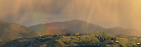 Afternoon shower panoramic Studhorse Mountain, Methow Valley Washington