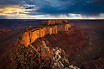 Wotans Throne viewed from Cape Royal on the North Rim of Grand Canyon National Park.