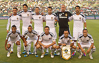 CARSON, CA – July 9, 2011: LA Galaxy starting line-up for the match between LA Galaxy and Chicago Fire at the Home Depot Center in Carson, California. Final score LA Galaxy 2, Chicago Fire FC 1.
