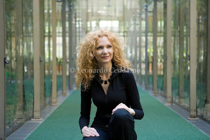 Turin, Italy, 2007. Lucrezia Lerro, Italian writer and poetess.