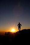 Woman watching sunset, Coronado National Forest, Arizona