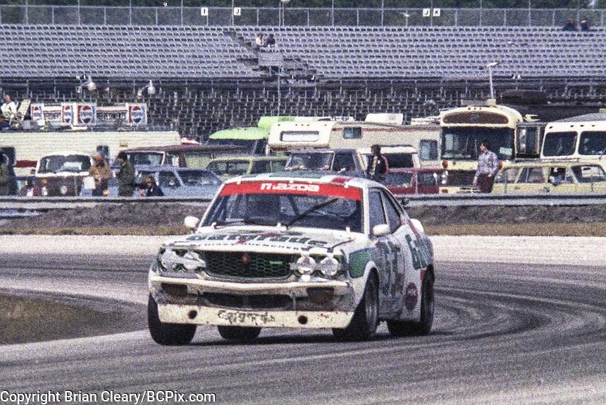 #53 Mazda RX-3 of  Jim Downing, Stu Fisher, Walt Bohren, and Roger Mandeville 29th place finish, 1978 24 Hours of Daytona, Daytona International Speedway, Daytona Beach, FL, February 5, 1978.  (Photo by Brian Cleary/www.bcpix.com)