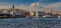 Fine Art Print Photograph. The Bosphorus strait in Istanbul, Turkey. <br />