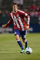 CD Chivas USA midfielder Blair Gavin (18) moves with the ball. The Colorado Rapids defeated CD Chivas USA 1-0 at Home Depot Center stadium in Carson, California on Saturday March 26, 2011...