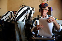USA. Angola. 20th April 2008.Prisoners fill out paperwork and forms in preparation for the rodeo..©Andrew Testa