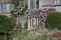 View of Haddon Hall with climbing roses