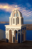 Bell tower of an Orthodox church, Fira, Santorini