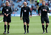 Match officials warming up before todays match<br /> <br /> Photographer Rachel Holborn/CameraSport<br /> <br /> The Premier League - Burnley v Manchester United - Sunday 23rd April 2017 - Turf Moor - Burnley<br /> <br /> World Copyright &copy; 2017 CameraSport. All rights reserved. 43 Linden Ave. Countesthorpe. Leicester. England. LE8 5PG - Tel: +44 (0) 116 277 4147 - admin@camerasport.com - www.camerasport.com