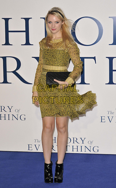 LONDON, ENGLAND - DECEMBER 09: Emily Berryman attends the &quot;The Theory of Everything&quot; UK film premiere, Odeon Leicester Square cinema, Leicester Square, on Tuesday December 09, 2014 in London, England, UK. <br /> CAP/CAN<br /> &copy;Can Nguyen/Capital Pictures