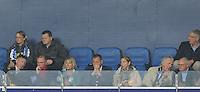 VOETBAL: HEERENVEEN: Abe Lenstra Stadion 18-10-2015, SC Heerenveen - Feyenoord, uitslag 2-5, Jelco van der Wiel (midden), Foppe de Haan (geheel rechts), Jaap Schuurmans (geheel links), ©foto Martin de Jong