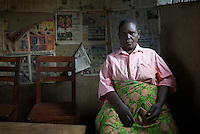 """65 years old, a widowed farmer in Rwamuhama village. """"This is a good time"""" she says, of the economy. """"You can sell it. Beforee, there was no market, but now everything is in demand."""" By 'before' she's refering to before the freel market reforms enacted by President Museveni, elected  1996.  She used the Applap service via Gideon, a community knowledge worker, to ask the database how to improve the yield of her banana crop. She says the problem is that she cannot afford the fertiliser the service recommended. She also grows cofeee, greens, mangoes and beans.."""