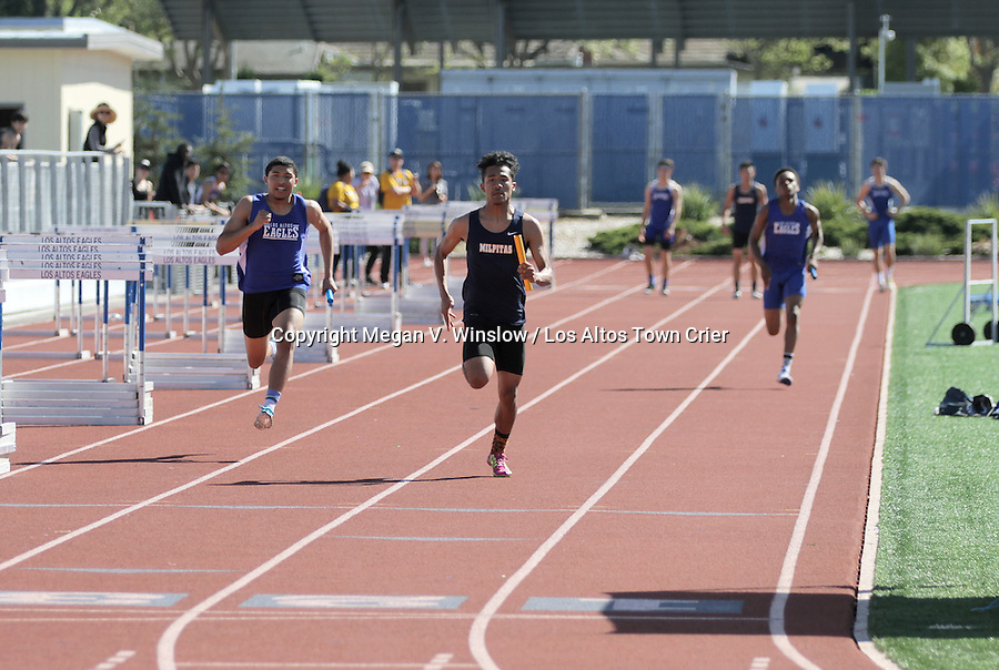 The Los Altos Eagles boys and girls track teams topped Milpitas Thursday, March 17, 2016.