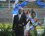 Andrea Daniels is escorted by James Daniels during Homecoming ceremonies before the Water Valley vs. J.Z. George football game in Water Valley, Miss. on Friday, September 10, 2010.