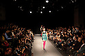 October 21st, 2011: Tokyo, Japan &ndash; A model walks down the catwalk wearing Junya Tashiro during Mercedes-Benz Fashion Week Tokyo 2012 Spring/Summer. The Mercedes-Benz Fashion Week Tokyo runs from October 16-22. (Photo by Yumeto Yamazaki/AFLO)
