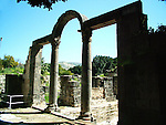 Roman ruins at Hamat Gader, Israel Hamat Gader is located in the Yarmuk Valley on the eastern shore of the Sea of Galilee, about 20 kilometers from Tiberias. and has 4 springs one of sweet water and four of mineral water. other attractions are an archaeological site with reconstructed Roman baths, which are regarded as the most impressive in the world; an amphitheatre and a 5th century synagogue. There is also a crocodile farm