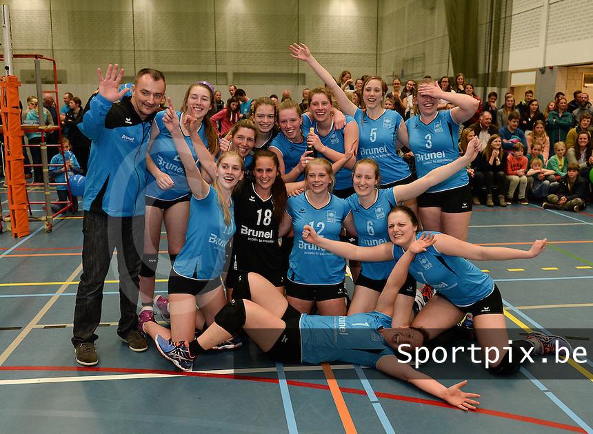Wivo Wingene Dames kampioen in eerste provinciale seizoen 2015-2016 :   de speelsters vieren de titel<br /> Foto VDB / Bart Vandenbroucke