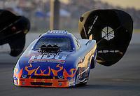 May 18, 2012; Topeka, KS, USA: NHRA top alcohol funny car driver Jay Payne during qualifying for the Summer Nationals at Heartland Park Topeka. Mandatory Credit: Mark J. Rebilas-