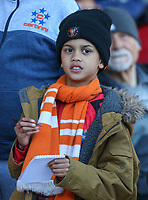 A young Blackpool fan waits for autographs<br /> <br /> Photographer Alex Dodd/CameraSport<br /> <br /> The EFL Sky Bet League Two - Blackpool v Cheltenham Town - Saturday 22nd April 2017 - Bloomfield Road - Blackpool<br /> <br /> World Copyright &copy; 2017 CameraSport. All rights reserved. 43 Linden Ave. Countesthorpe. Leicester. England. LE8 5PG - Tel: +44 (0) 116 277 4147 - admin@camerasport.com - www.camerasport.com