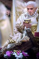 Midnight Mass Pope Benedict XVI leads thein Saint Peter's Basilica at the Vatican.Dec. 25, 2007