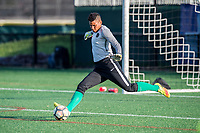 Boston, MA - Friday May 19, 2017: Adrianna Franch during a regular season National Women's Soccer League (NWSL) match between the Boston Breakers and the Portland Thorns FC at Jordan Field.