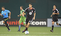 Branko Boskovic #27 of D.C. United moves the ball up field during an MLS match against Seattle Sounders FC at RFK Stadium on July 15 2010, in Washington DC.Seattle won 1-0.