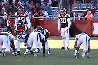 Nov 27, 2010; Charlottesville, VA, USA;  Virginia Tech Hokies punter Brian Saunders (30) during the game against the Virginia Cavaliers at Lane Stadium. Virginia Tech won 37-7. Mandatory Credit: Andrew Shurtleff