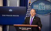 White House Press Secretary Sean Spicer holds a news briefing at The White House in Washington, DC, February 8, 2017. <br /> Credit: Chris Kleponis / Pool via CNP