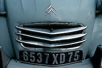 "1990, Paris, France --- Grille of Citroen ""Deux Chevaux"" --- Image by © Owen Franken"