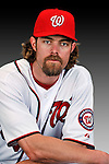25 February 2011: Washington Nationals' outfielder Jayson Werth poses for his Photo Day portrait at Space Coast Stadium in Viera, Florida. Mandatory Credit: Ed Wolfstein Photo