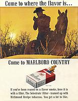 Marlboro cigarette ad, 1964. Photo by John G. Zimmerman.
