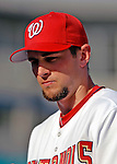 8 March 2006: Bill Bray, pitcher for the Washington Nationals, looks out of the dugout after dugout a Spring Training game against the St. Louis Cardinals. The Cardinals defeated the Nationals 7-4 in 10 innings at Space Coast Stadium, in Viera, Florida...Mandatory Photo Credit: Ed Wolfstein.