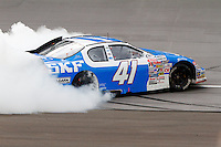 17 June 2011: Ty Dillon does a burnout after winning the ARCA RainEater Wiper Blades 200 at Michigan International Speedway in Brooklyn, Michigan. (Photo by Jeff Speer :: SpeerPhoto.com)