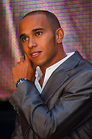 Formula One driver Lewis Hamilton visits Hugo Boss birthday party in Budapest, Hungary. Friday, 30. July 2010. ATTILA VOLGYI