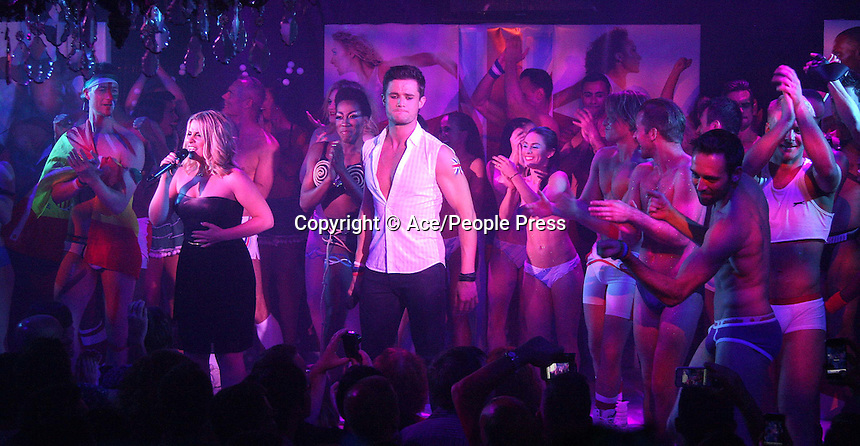 London - Celebrities and guests perform at 'West End Bares' Burlesque Show with a 2012 Olympic theme at Cafe de Paris, London - September 2nd 2012..Photo by Ace/People Press