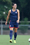 18 August 2014: Ali Krieger. The United States Women's National Team held a training session on Field 4 at WakeMed Soccer Park in Cary, North Carolina.