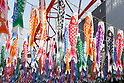 Tokyo Tower displays 333 Flying Carp to celebrate Children's Day