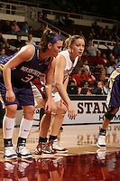 23 February 2006: Christy Titchenal during Stanford's 100-69 win over the Washington Huskies at Maples Pavilion in Stanford, CA.