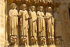 Paris - France - Notre Dame - Front with Sataues