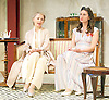 The Roundabout <br /> by JB Priestley <br /> directed by Hugh Ross<br /> at Park Theatre, London, Great Britain <br /> 24th August 2016 <br /> Press photocall <br /> <br /> <br /> Lisa Bowerman as Lady Kettlewell <br /> <br /> <br /> Bessie Carter as Pamela Kettlewell <br /> <br /> <br /> <br /> Photograph by Elliott Franks <br /> Image licensed to Elliott Franks Photography Services