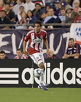 Two goal scorer Chivas USA midfielder Jesus Padilla (10) at midfield. Chivas USA defeated the New England Revolution, 4-0, at Gillette Stadium on May 5, 2010.