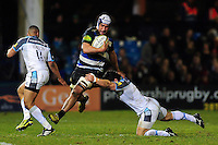Leroy Houston of Bath Rugby takes on the Newcastle Falcons defence. Aviva Premiership match, between Bath Rugby and Newcastle Falcons on March 18, 2016 at the Recreation Ground in Bath, England. Photo by: Patrick Khachfe / Onside Images