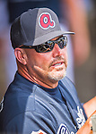 14 March 2016: Atlanta Braves Manager Fredi Gonzalez watches play from the dugout during a Spring Training pre-season game against the Tampa Bay Rays at Champion Stadium in the ESPN Wide World of Sports Complex in Kissimmee, Florida. The Braves shut out the Rays 5-0 in Grapefruit League play. Mandatory Credit: Ed Wolfstein Photo *** RAW (NEF) Image File Available ***