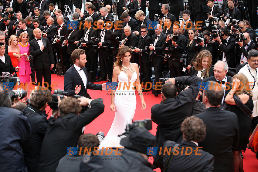 Cindy Crawford .Cannes 15/5/2013.Festival del Cinema The Great Gatsby - Il grande Gatsby .Foto Panoramic / Insidefoto .ITALY ONLY