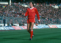 Phil Neal, Liverpool and England, taken during 1983 Milk Cup Final against Manchester United at Wembley, London, UK. Liverpool won 2-1. 19830326PN1..Copyright Image from Victor Patterson, 54 Dorchester Park, Belfast, United Kingdom, UK...For my Terms and Conditions of Use go to http://www.victorpatterson.com/Victor_Patterson/Terms_%26_Conditions.html